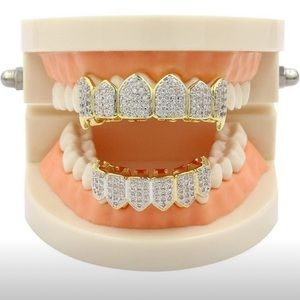 Hip Hop Grillz Iced Out AAA (Top/Bottem Set)